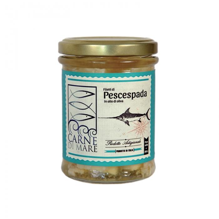 filetti pesce spada in olio oliva maletti store online