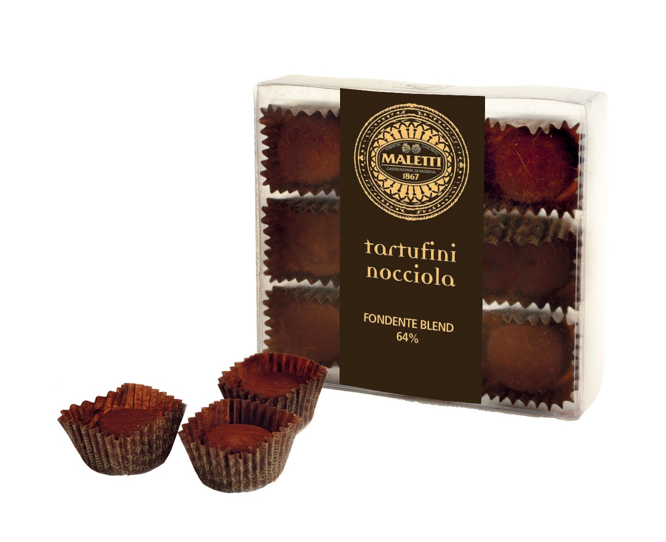Tartufini nocciola e cacao maletti store online