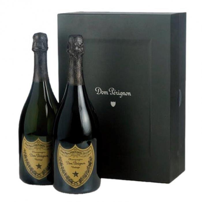 Bottiglie di Don Perignon per ceste natalizie