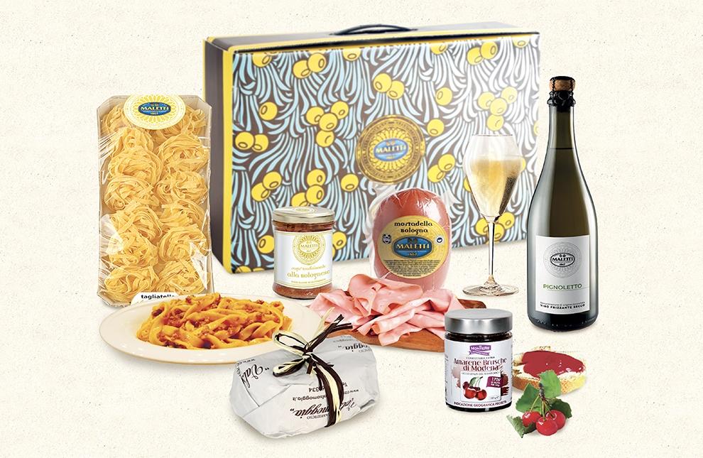 confezione alimentare natalizia bell'emilia maletti store online