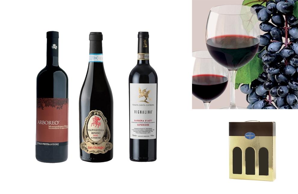 confezione natalizia vini