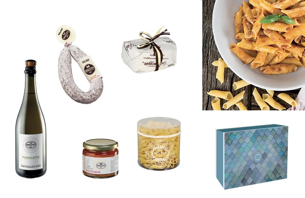 confezione natalizia prodotti bolognesi