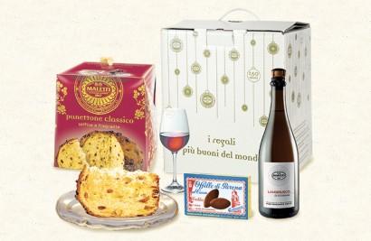 cesta con prodotti alimentari ghiotta maletti store online