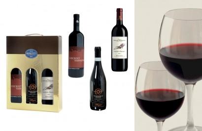 cesta natalizia con vini doc