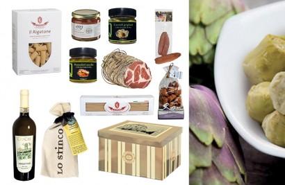 confezione regalo alimentare con prodotti di mare e terra